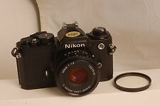 Nikon FE 35mm SLR Film Camera BLACK with 50 mm lens Kit