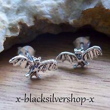 1 Paar Fledermaus Ohrstecker Ohrringe Silber 925 Keltischer Schmuck Gothic