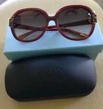 Lanvin NWT (De Rigo Vision) Rich Woodtone  Brown Sunglasses