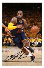 LEBRON JAMES - CLEVELAND CAVALIERS AUTOGRAPHED SIGNED A4 PP POSTER PHOTO