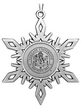 new COLGATE UNIVERSITY ENGRAVED PEWTER SNOWFLAKE CHRISTMAS ORNAMENT Raiders gift