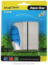 Aqua One A1-10095 MagClean Corner Curved Floating Glass Magnet Cleaner Up To 8mm