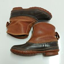 LL BEAN Maine Hunting Slip On Shoe Boots leather Rubber Vintage Vtg USA Made