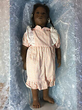 """ANNETTE HIMSTEDT """"SANGA"""" SUMMER DREAMS COLLECTION 22"""" VINYL DOLL AFRICAN AMERICA"""