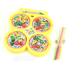 Gift Electric Rotating Magnetic Magnet Fish Kid Educational Toy Go Fishing Game