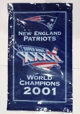 "Gillette Stadium 2001 New England Patriots 14"" Mini Banner Super Bowl 36 XXXVI"