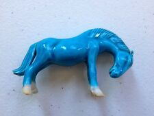 Vintage Asian Turquoise Glazed Mustang Horse Figurine Pre 1950's