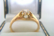 Very Rare 18ct Gold 0.83ct OldCut Diamond Solitiare George IV Gypsy Ring c1829