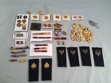 lot of misc. US & Foreign Army, Navy , and Military pins, buttons , Ribbons