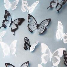 18pcs DIY 3D Butterfly Wall Stickers Art Decal PVC Butterflies Home Decor New e
