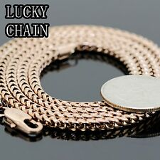 "30""STAINLESS STEEL ROSE GOLD SMOOTH FRANCO BOX CHAIN NECKLACE 3mm35g R83"