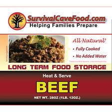 Survival Cave Food Case of 12 28oz cans - Beef 15 Yr Shelf LIfe Food Storage