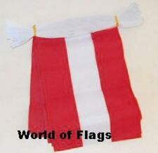AUSTRIA FLAG BUNTING Austrian 9m 30 Polyester Fabric Party Flags Europe European