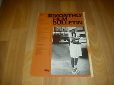 MONTHLY FILM BULLETIN   Ali McGraw in CONVOY  cover picture  Aug 78