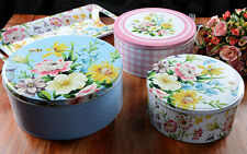 Set of 3 KATIE ALICE English Garden SHABBY CHIC Cake/Biscuit Tins