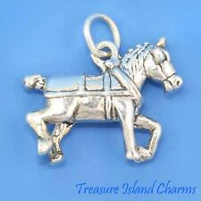 CLYDESDALE BELGIAN DRAFT DRAUGHT HORSE BREED 3D .925 Solid Sterling Silver Charm