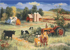 Cross Stitch Chart Pattern Country Scene Needlework Picture Design Craft