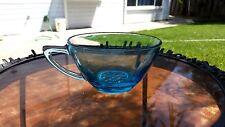 Azure Blue CAPRI DOTS HOBNAIL CUP  - 1960's