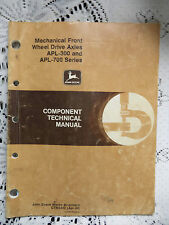 Mechanical Front Wheel Drive Axles APL 300 & 700 Series Component Manual 1990