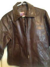 American Hide And Leather Brown Lined Jacket Sz L