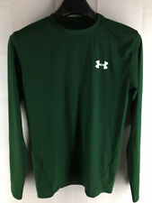 MENS UNDER ARMOUR HEATGEAR FOREST GREEN LONG-SLEEVE COMPRESSION T-SHIRT XL