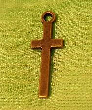 30 pcs Antique  Bronze Plated Cross Pendant Ships from USA Immediately
