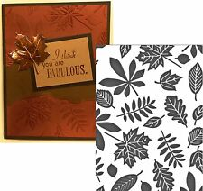Leaves Embossing Folder ENDLESS 723294 Couture Creations Oak birch maple leaf