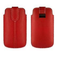 Funda Samsung Galaxy S3 MINI i8190 S2 i9100 Cuero ROJA Rojo TA1 Pull up Sleeve
