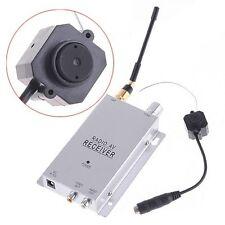 NEW DIY Wireless Mini Spy Nanny Pinhole Security Camera System 1.2GHz Receiver