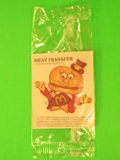 1977 McDonalds - Fun-To-Go *Test* - Heat Transfer - Mayor McCheese *MIP*