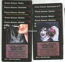 9 Different Praxis Seizure Cards 9 Cities Set H Jyhad