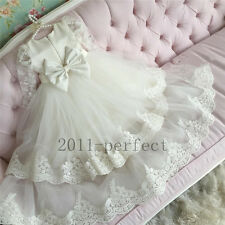 Free Shipping 2016 Baby Baptism Dresses White Ivory Christening Gown Hot Selling