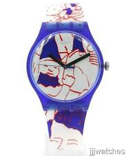 New Swatch Originals JULS AT SWATCH ART PEACE HOTEL Silicone Watch 41mm SUOZ217