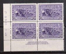 Canada #261 XF/NH Plate #1 LL Block