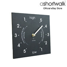 Ashortwalk ECO NERO riciclato SQUARE TIDE CLOCK