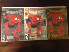 Spiderman 1 Silver, 1 Green, 1 Gold set NM Todd McFarlane