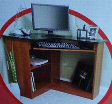 BRAND NEW IN BOX Staples Inspire Cherry Laminate Corner Computer Desk, 714651