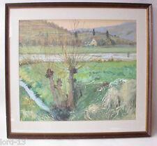 Peter Würth Gemälde Bild Landschaft  Würzburg Veitshöchheim Main Franken 1929