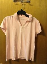 Pink Lady Hagen golf/tennis shirt with breast cancer awareness ribbon size L