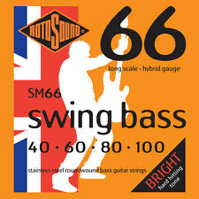 ROTOSOUND SM66 SWING BASS STAINLESS STEEL BASS STRINGS, HYBRID GAUGE 4's, 40-100