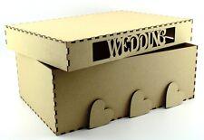 Wedding Mdf Gift/Shoe Box 31cm x 21cm x 11.5cm Laser Cut