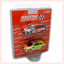 SCX Scalextric Compact 1:43 2x Seat Leon (#9 Gene, #35 Nogues) 3709