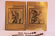 USA Seller Yugioh Black Luster Soldier & Chaos Emperor Dragon Golden Metal Card