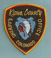 KIOWA COUNTY SHERIFF COLORADO POLICE PATCH INDIAN