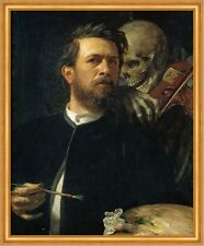 Self-Portrait with Death Playing the Fiddle Arnold Böcklin Tod Geige B A1 00673