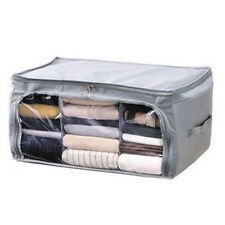 High Quality Foldable Bamboo Storage Box Closet Container For Cloths  Organizer