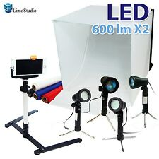 "LimoStudio 24"" Folding Photo Box Tent LED Light Table Top Photography Studio ..."