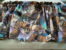 Valance American Native Indian southwestern tribal elements horse Buffalo eagle