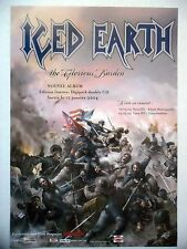 "PUBLICITE-ADVERTISING :  ICED EARTH  2004 pour la sortie de ""The Glorious Burden"
