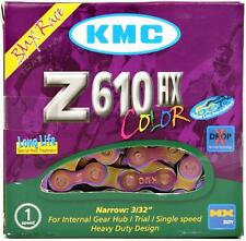 "KMC Z610HX Bike Chain 3/32"" 7.8mm Single-Speed BMX Fixed Oil Slick Neo-Chrome"